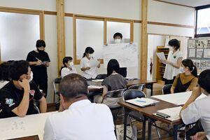 長崎街道かんざき宿場まつりの意見を出し合う参加者=神埼市の神幸館