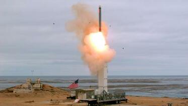 米、中距離の地上型ミサイル実験