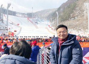 第12回冬季パラリンピック平昌大会を視察した古川康衆院議員=韓国・平昌