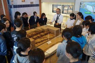 式典出演生徒ら、常民の功績学ぶ 三重津海軍所跡