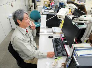 派遣された石巻市役所で被災者支援の業務にあたる宮﨑勝正さん