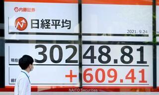 東証全面高、終値3万0248円