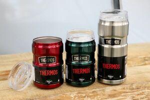 ビールなどの350ミリリットル缶、500ミリリットル缶をそのまま入れて保冷できる缶ホルダー。飲み頃の温度を長時間キープでき、見た目をおしゃれに演出してくれます。飲み口を付ければタンブラーとしても使用可能。