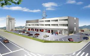杵藤地区消防本部と武雄消防署が移転する統合庁舎の完成予想図