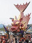 「飛龍」総修復、お披露目巡行 唐津くんち7番曳山