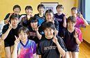 <がんばろう10代・SSP杯>敬徳高女子卓球部