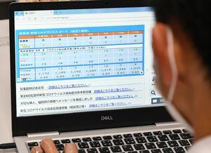 佐賀県のウェブサイトに掲載された「新型コロナウイルスボード」