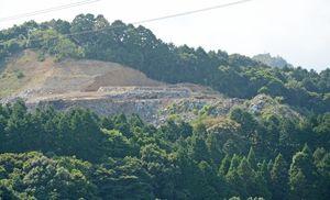 拡張計画を撤回した産業廃棄物最終処分場=西松浦郡有田町戸矢地区