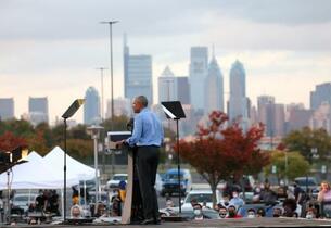 オバマ氏、黒人や若者に投票訴え