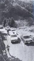 【第23回大会】選手も車も苦労させられたつづら折りの峠越え=1970(昭和45)年1月25日
