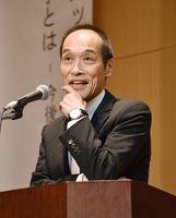 「地域活性化」をテーマに基調講演する東国原英夫さん