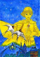 木須による「幸福の王子」原画