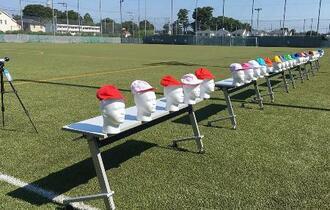 赤白帽、赤の方が熱吸収