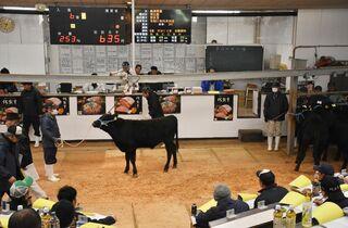 肉用子牛、平均72万円 県内初競り、前年割れ