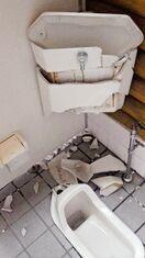 神埼市、公衆トイレ3カ所が損壊 金属部品持ち去り