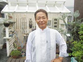 花の世界大会&ガーデニングショーに作品を出品した山口繁樹さん=佐賀市大和町