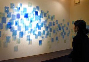 坂本彩さんによる「きりとる」=佐賀市兵庫北のギャラリークレーンズ・アート
