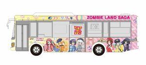 佐賀市交通局とアニメ「ゾンビランドサガ」がコラボしたラッピングバスのイメージ(C)ゾンビランドサガ製作委員会