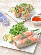 レシピ「香味野菜の生春巻き」