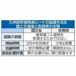 <新幹線長崎ルート>「期限定めぬ」など削除 国交省、佐賀県に確認文書修正案