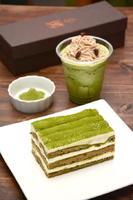 茶畑  750円(手前)、釜煎り抹茶グラニテ・マロン  400円