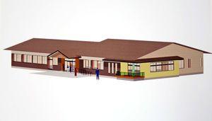 有田町の多世代交流センターの完成イメージ図