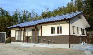 建て替え、新築された中野公民館=唐津市鎮西町中野