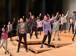 公演に向け、2月に行った舞台練習