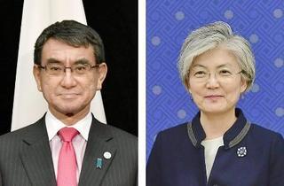日韓外相、徴用工訴訟で電話会談