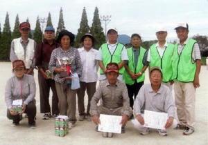 谷口眼科杯第23回山内グラウンドゴルフ大会の優勝・上位入賞者