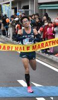 ハーフマラソンの部3位、佐賀県出身者ではトップでゴールした森太一選手