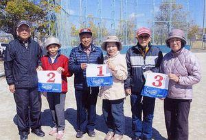 県高齢者大学佐賀校16期会GG月例会の上位入賞者