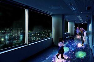 県庁展望ホールで9月4日から始まるアート県庁プロジェクト「星空の庭園」のイメージ写真