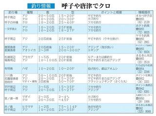 釣り情報 呼子や唐津でクロ(2017.11.30)