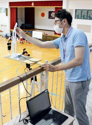 三神地区中学総体を控室に配信 バスケ女子ライブで観戦