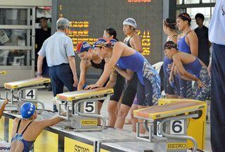 佐賀学園、女子400R頂点 県高校総体・競泳