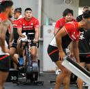 ラグビー日本代表が練習再開