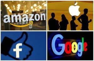 米アマゾン・コム、アップル、フェイスブック、グーグル各社のロゴマーク(ロイター=共同)