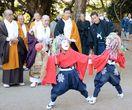 豊漁、豊作願い「童子舞」 竹崎観世音寺で修正会鬼祭