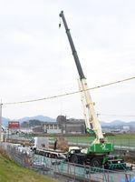JR佐世保線の大町―高橋駅間で進む複線化の工事=武雄市北方町