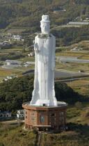 淡路島の巨大観音像解体へ