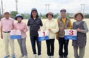 県高齢者大学16期会GG定例会の上位入賞者