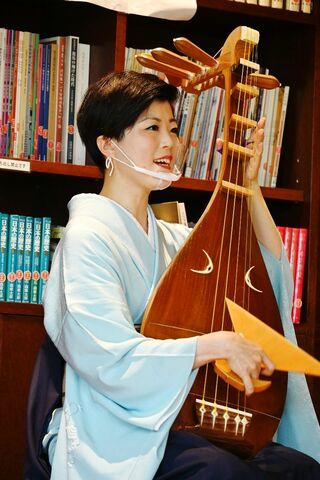 """薩摩琵琶奏者・北原香菜子さん、コロナに対応した""""新たな公演様式""""スタート"""