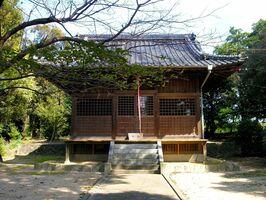 春の大祭が開かれる伊勢山神社=基山町小倉
