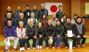 第80回佐賀市ミニテニス大会 男子の部の入賞者