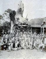 昭和5年に新造した「鯱」(水主町水組提供)
