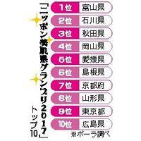 「ニッポン美肌県グランプリ2017」トップ10