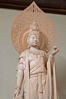 県展に入選した「明星観音」=佐賀市の専福寺本堂