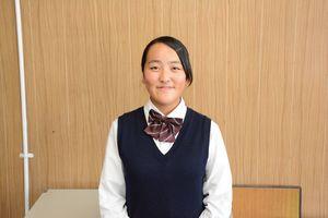 神埼高等学校生徒会長の福島瑞希さん