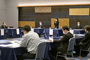会期案などを決めた「SAGA2024」実行委員会の常任委員会=佐賀市のホテルニューオータニ佐賀